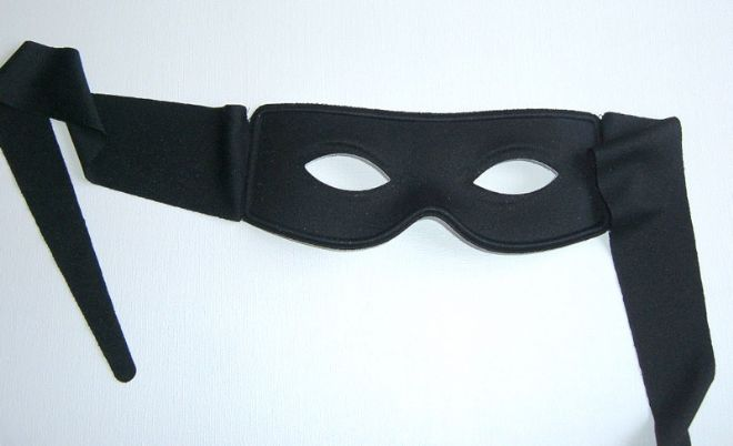 Small Black bandit Mask (suitable over glasses)